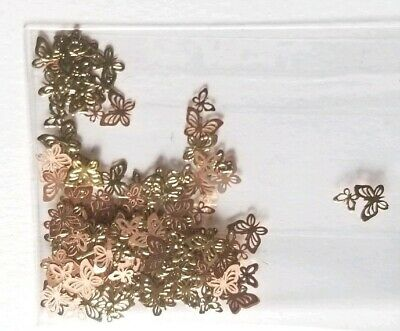 GOLD High Quality  Detailed Butterfly Nail Sequin Nail Art Designs