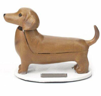 Kikkerland SOLAR DACHSHUND Boudewijn NODDING DOG Desktop Toy