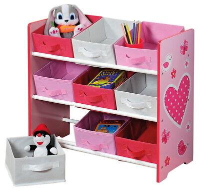 KESPER Aufbewahrungsregal Kinder Schubladen Kinderzimmer-Regal für Mädchen NEU