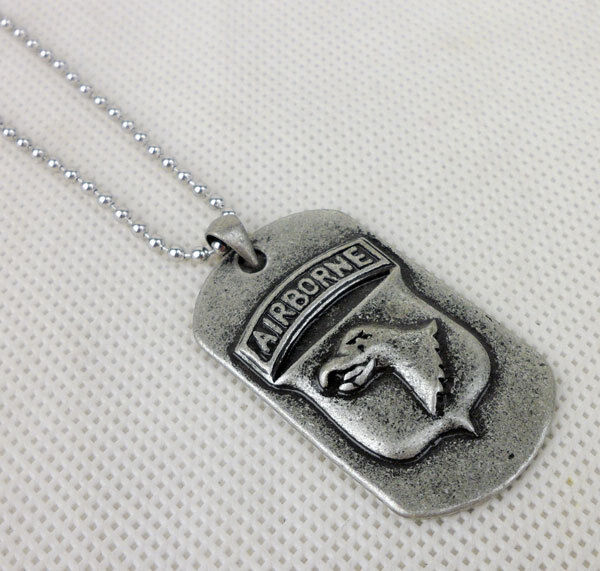 US Army Airborne Dog Tag Necklace Pendants