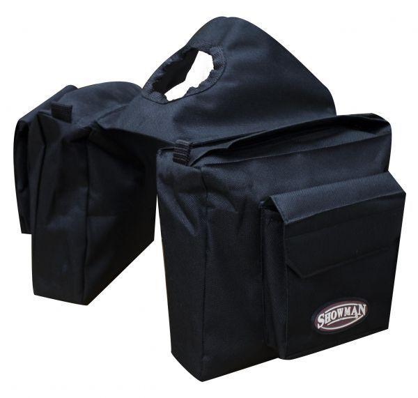 BLACK Heavy Nylon Western Saddle Horn Bag by Showman! NEW HO
