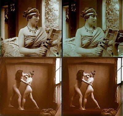 16 Stereofotos french Nude, Jules Richards Atrium, Lot 8, Stereoviews France