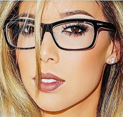Sexy Square Rectangular Nerd Geek Women Clear EyeGlasses Frames Classic (Nerd Eyewear)