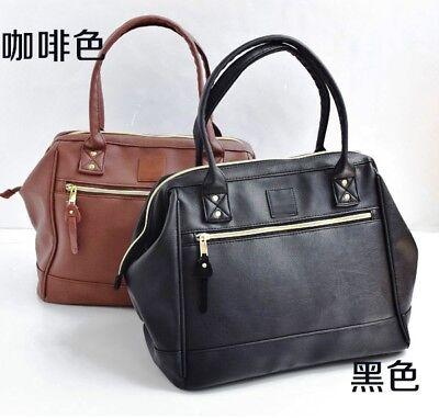 Canvas Large Boston Bag - Japan ANELLO Faux Leather Large Boston Postman Handbag Campus Shoulder Cool Bag