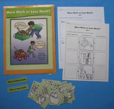 Evan Moor Science Center Learning Resource Game More Work or Less Work (More Or Less Game)
