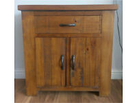 Solid wood rustic oak unit/cabinet