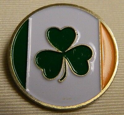 NEW Ireland Flag Irish Lucky Shamrock Clover Golf Ball Marker