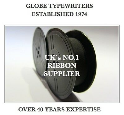 1 x 'UNDERWOOD 6' *BLACK* TOP QUALITY *10M* TYPEWRITER RIBBON TWIN SPOOL (*R/W*)