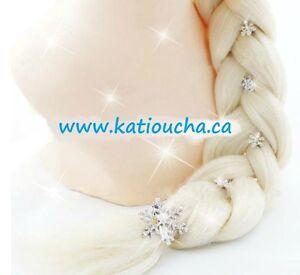 Cheveux d'Elsa,tresse...du film Frozen... costume,robes,manteaux West Island Greater Montréal image 1