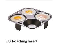 Egg poaching inserts