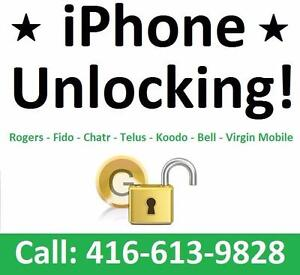 UNLOCK YOUR IPHONE 5C / 5S / SE / 6 / 6 PLUS / 6S / 6S PLUS / 7 / 7 PLUS  - CALL 416-613-9828