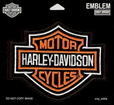 Harley Davidson Classic Bar & Shield Small Vest Patch Made In The Usa Sm
