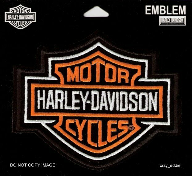 Large Harley Davidson Classic Bar & Shield Patch Vest Jacket Patch
