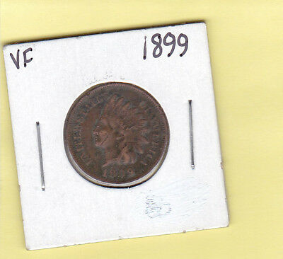 1899 1 CENT REGULAR STRIKE INDIAN HEAD PENNY PHILADELPHIA MINTED