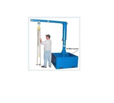 Vestil Portable Jib Crane - 500 Pound Capacity 8 Span