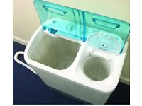 Portable washing machine and spinner, ideal for caravans