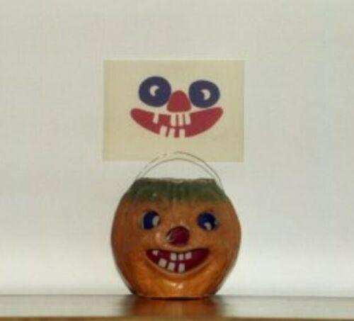 Insert for Halloween Jack o Lantern on OLD PAPER