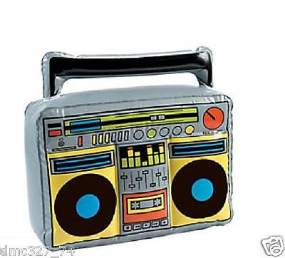 Totally Awesome 80s Party Decoration Prop INFLATABLE BOOM BOX Ghetto Blaster - Inflatable Boombox