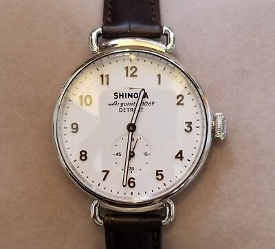 Shinola The Canfield Watch S0120001932 With 38mm White Face