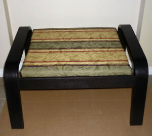 Black Bench or Footstool or low sitting stool : Like NEW