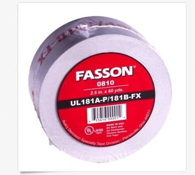 2 Pk Fasson  0810 2.5 X 60 Yards Silver Foil Tape For Hvac Duct Usa