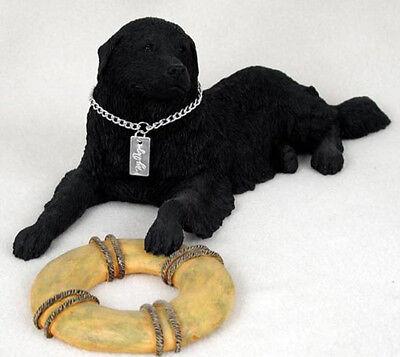 NEWFOUNDLAND MOUNTAIN DOG MY DOG Figurine Statue Pet Lovers Gift Hand Painted