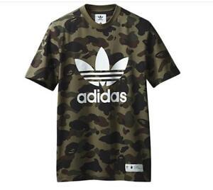 Bape x Adidas Olive Camo T-shirt Small DSWT