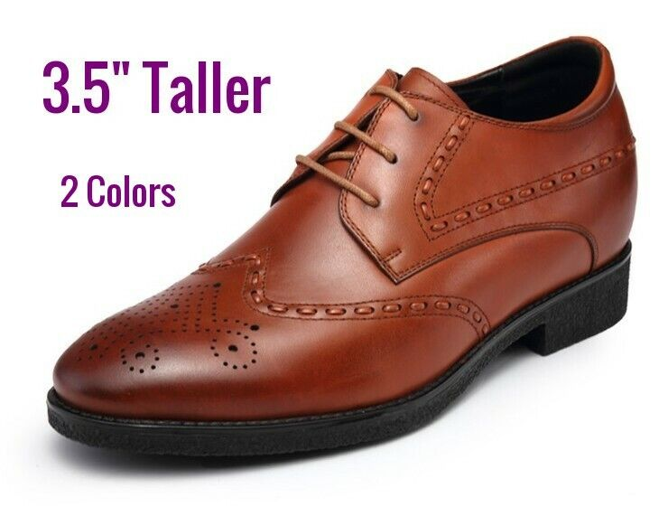 Men 3.5 inches Elevator Height increase Oxford Dress shoes size 9 10 10 11 1