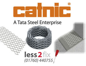 Catnic Brick Reinforcement Mesh Brick/Block Tie 200mm x 20m Galvanised