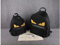 Fendi Monster Eyes Men Backpack Big & Small Size