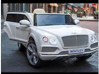Licensed Bentley bentayga ride on car with remote control music and lights (leeds) only £200