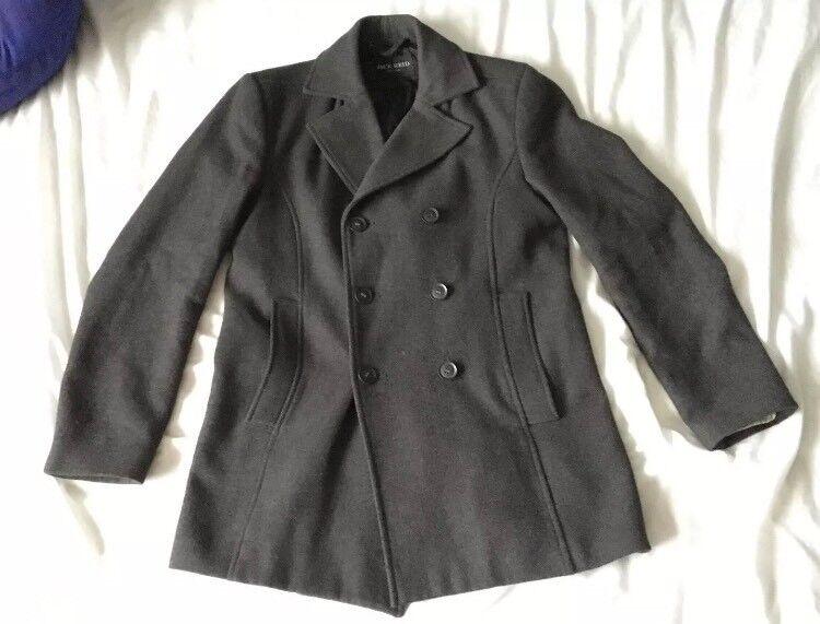 Jack Reid Peacoat Wool Blend Winter Coat - S