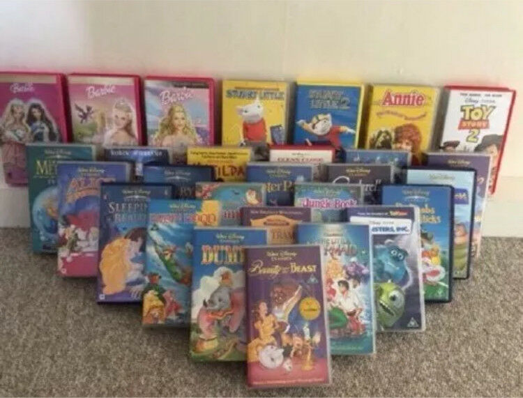 Retro VHS player and Disney best movies on vhs tapes!!! Beauty and beast And many many more...