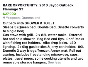 2010 Jayco Flamingo Outback ST Yeppoon Yeppoon Area Preview