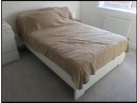 IKEA standard double bed with mattress