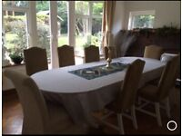 Dinning table and 10 chairs