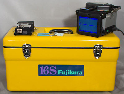 Fujikura Fsm-16s Arc Single Fiber Optic Smmmds Fusion Splicer Wshrink Oven