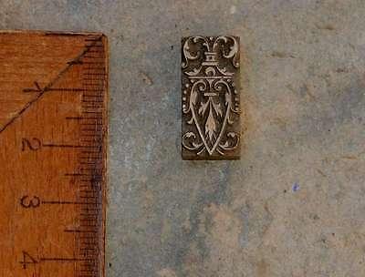 Messingornament Ornament Buchbinden Prägen Prägestempel Handvergolden Dekoration