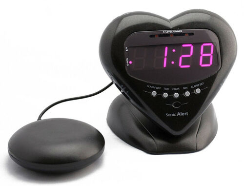 Sonic Alert Sweetheart Alarm Clock with Super Shaker (Black) SBH400SSB