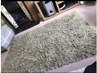 NEXT home green rug carpet mat bobble effect. Rectangle. Flooring