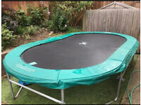 Oval trampoline 12ftx6ft