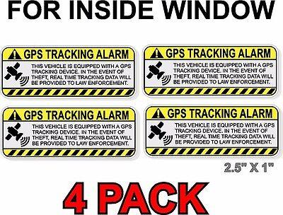 GPS ANTI-THEFT STICKER, INSIDE WINDOW for Car/Truck/Boat NOT FOR DARK TINT (Inside Glass)