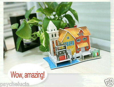 3D World Style Jigsaw Puzzle Best Christmas Gifts for Kids -