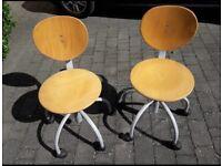 Children's Wooden Swivel Chairs