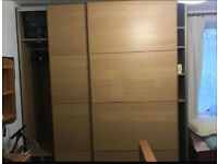 IKEA PAX OAK DOUBLE SLIDING WARDROBE GREAT CONDITION CAN DELIVER