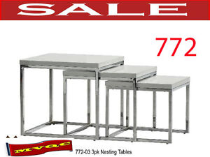 772-03, end site nesting tables, glass top coffee tables, mvqc