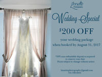 $200 off Wedding Packages