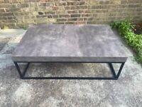 Concrete laminate effect coffee table