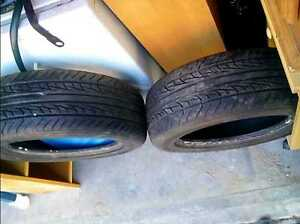 Pair of Uniroyal 205/60r16 tires, like new