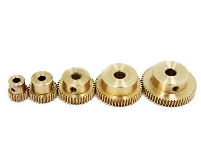 0.5 Modulus Brass Gear 20 - 60 Tooth Worm 3 To 6.35mm Hole Dia. Drive Gearbox